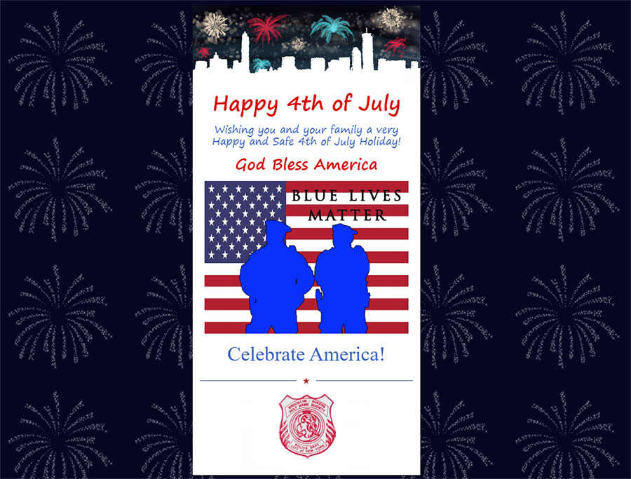 Happy 4th of July. Wishing you and your family a very Happy and Safe 4th of July Holiday! God Bless America. Celebrate America!